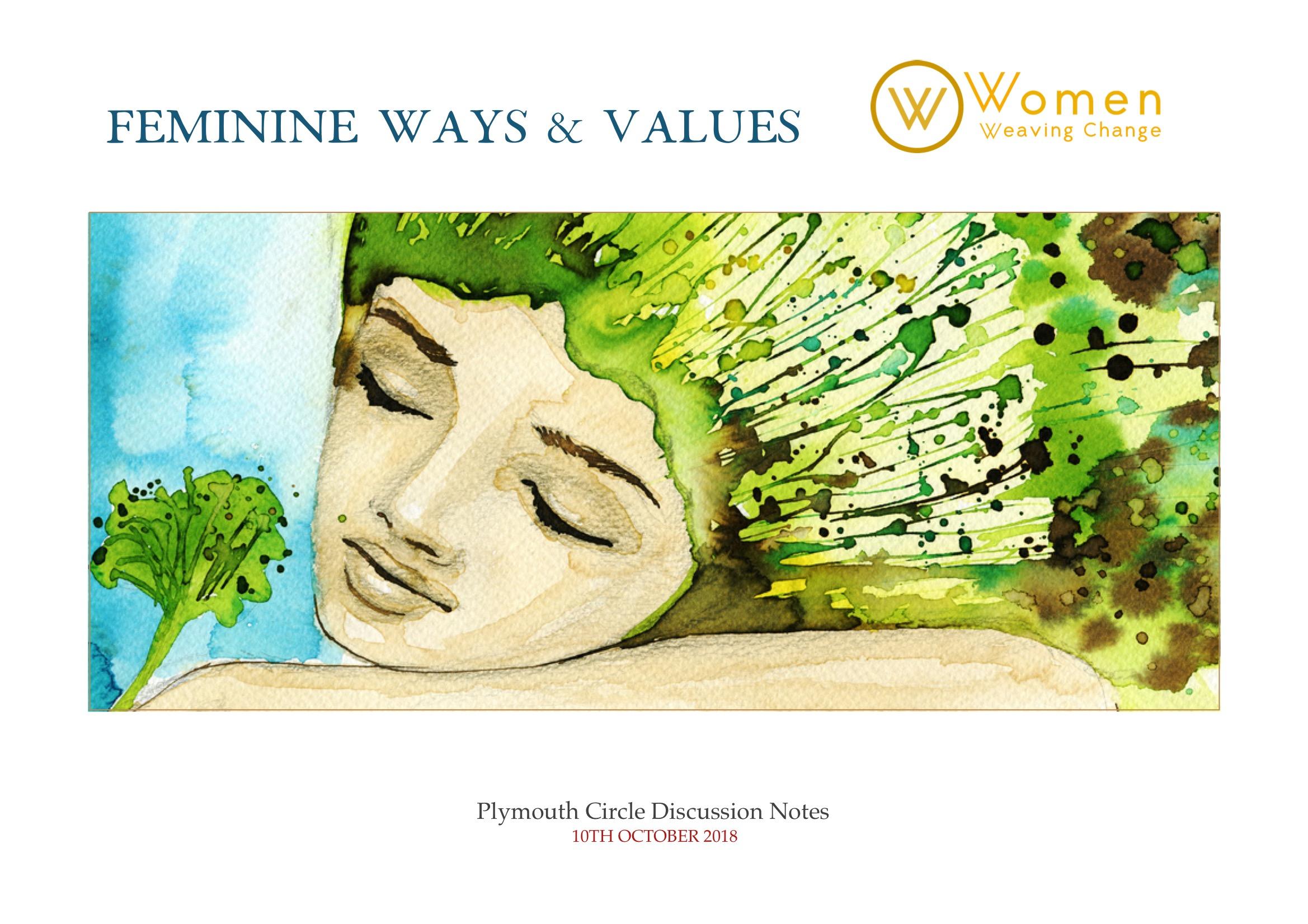women plymouth circle feminine ways and values