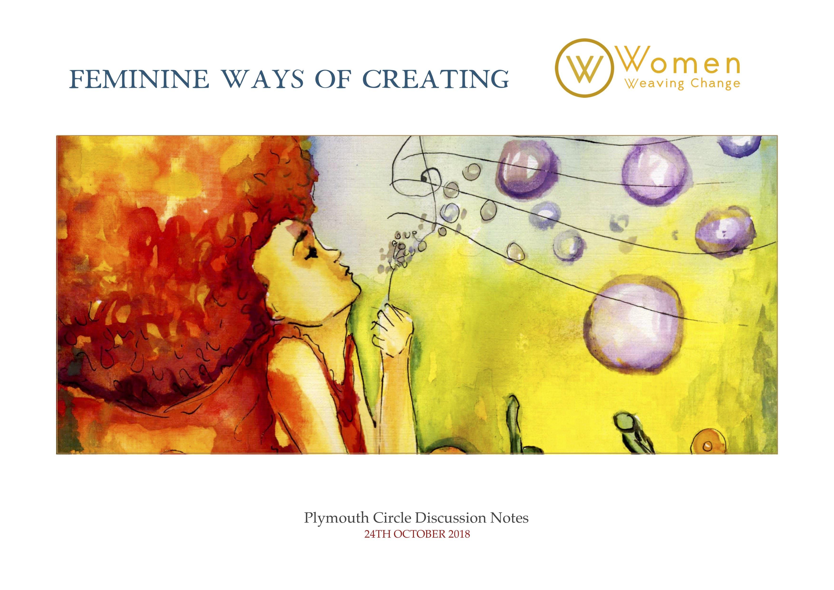 women plymouth circle creating the feminine way
